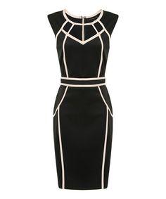 Another great find on #zulily! Black & Ivory Paloma Dress by London Dress Company #zulilyfinds