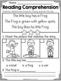 Kindergarten Reading Comprehension (Spring Edition)