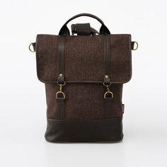 Bagpack Tweedy Brown Bradley Mountain, Leather Backpack, Tweed, Fashion Backpack, Backpacks, Handbags, Brown, Zip, Dress