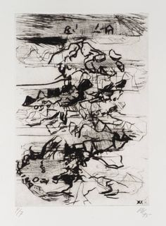 Per Kirkeby '[no title]', 1995 © Per Kirkeby #drawing
