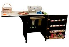 Arrow 98503 Compact Sewing Cabinet - black finish