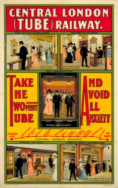 1905: 'Central London Tube Railway' | 20 Gorgeous Vintage Posters For The London Underground