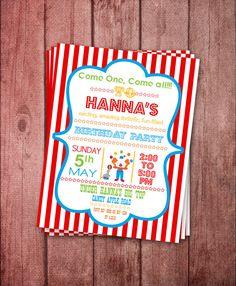 DIY Printable Circus Party Invitation by KalaniDesignsStudio, $12.95