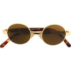 Moschino Vintage round frame sunglasses (3 470 SEK) ❤ liked on Polyvore featuring accessories, eyewear, sunglasses, glasses, fillers, brown, moschino, round frame sunglasses, dark tinted sunglasses and brown round sunglasses
