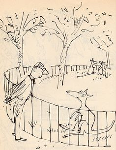 Custard and Company poems by Ogden Nash, illustrated by Quentin Blake Double whammy. Quentin Blake Illustrations, Roald Dahl Books, Art For Art Sake, Art Party, Children's Book Illustration, Cool Drawings, Book Worms, Ogden Nash, Custard