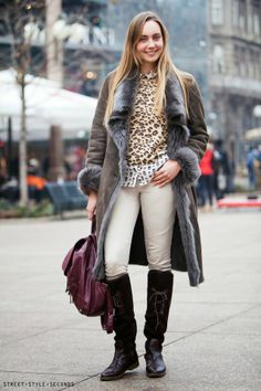 Zagreb street style, winter women's fashion