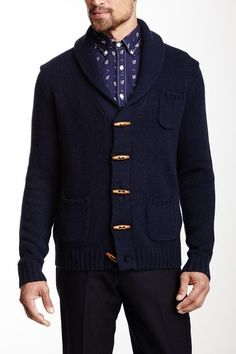 Sweater Shawl Collar Wool Blend Coat on HauteLook