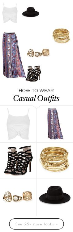 """""""Casual"""" by carshall on Polyvore featuring Topshop, Maison Michel and ABS by Allen Schwartz"""