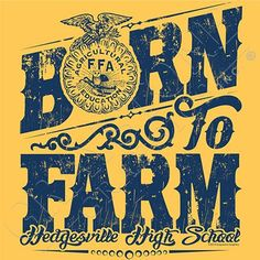FFA Chapter Tees- Design FFA4 -mix and match this with one of our ...