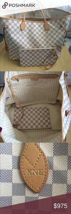 Auth LV Damier Azur Neverfull GM 100% Authentic in Excellent Condition. DOES NOT COME WITH POUCH!!! inside is clean with very little signs of use. Comes with Dustbag. Please see all pictures thanks for looking!❤️ Louis Vuitton Bags Shoulder Bags