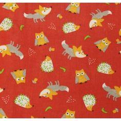 Coton rouge grenadine hérisson et renard