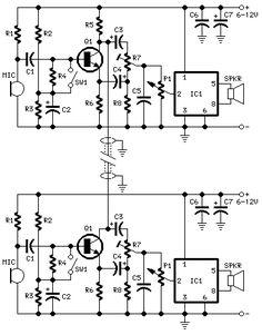 Intercom circuit diagram