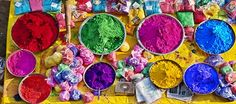 Holi is the Indian festival of colors.  It is the celebration of the beginning of spring and represents rejuvenation and rebirth through all of the bright colors associated with the festival.
