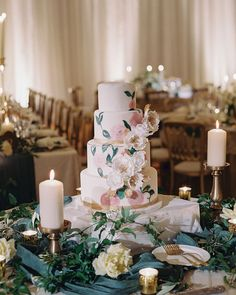 Floral Wedding Cakes - This Irish Castle Wedding Celebration is the Definition of Magical Textured Wedding Cakes, Beautiful Wedding Cakes, Beautiful Cakes, Amazing Cakes, Fondant Wedding Cakes, Fondant Cakes, Fresh Flower Cake, Cake Flowers, Sugar Flowers