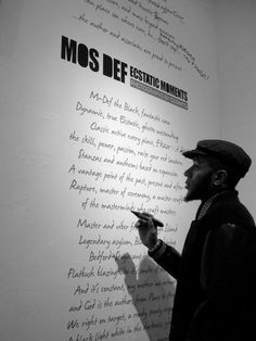 Mos Def is classy and tasteful. A poet.