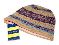 Ralph Lauren Rugby Mens Womens Indian Wool Knit Skull Cap Hat Tan Brown  Navy Ski Hats 553adca1b8e4