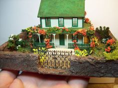 Miniature dollhouse for your dollhouse by fortislandminiatures