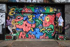 Amara por Dios + The Real Leybourne road Londres Street Artists, Urban Art, Collaboration, Graffiti, World, London, Fresh, God, Murals