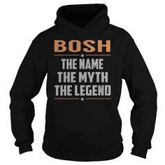 I Love BOSH The Myth, Legend - Last Name, Surname T-Shirt Shirts & Tees