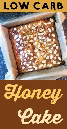 This is a low carb take on a Middle Eastern Honey Cake.  It's Atkins, Keto, THM-S, LCHF, grain free, gluten free and sugar free.  #resolutioneats #lowcarb #keto #cake