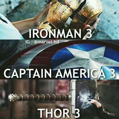 It's the end of an era. All of the third Marvel movies end with something being broke. I'm very concerned about Avengers 3 (Infinity War). Marvel Films, Marvel Dc Comics, Marvel Heroes, Captain Marvel, Captain America, Punisher Marvel, Thor Marvel, Marvel Quotes, Funny Marvel Memes