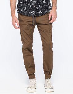 Volcom Frickin Modern Mens Jogger Pants Brown In Sizes