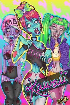 Zombies Are Kawaii by ~violatekate on deviantART