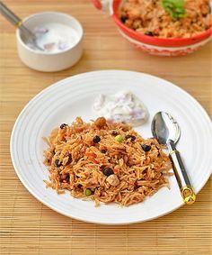 Healthy Pulses Biryani Recipe-Chana,Rajma,Kabuli Biryani Recipe-Sunday Lunch Recipes Series 21 | Chitra's Food Book
