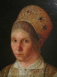 Портрет купчихи в праздичной одежде Тверской губ., неизв. худ. 1820-е гг.