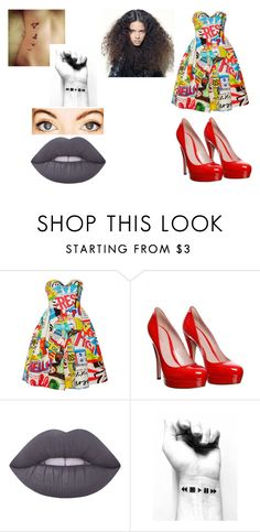 """""""Promise  Rova (glee)"""" by cutegurl112 ❤ liked on Polyvore featuring Moschino, Gucci and Lime Crime"""