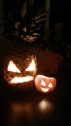 Pineapple and orange Jack o lanterns!