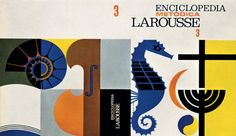 the joy of discovery - visual elements that tell a story - describe the spectrum    Larousse Encyclopedia cover design by Jean Colin (via AGI)