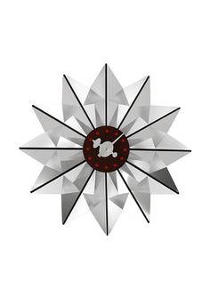 George Nelson Butterfly Clock, Silver // via MYHABIT
