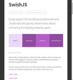 SwishJS · A CSS Animation Framework for JavaScript Applications