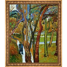 Vincent Van Gogh 'The Walk - Falling Leaves' Hand Painted Framed Oil Reproduction on Canvas - Free Shipping Today - Overstock.com - 20874390