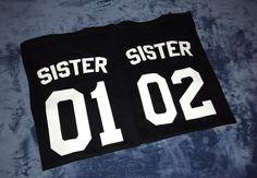 Camisetas de hermana hermana 01 camisa de camiseta de hermana