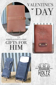 Get complimentary personalization on gifts from Holtz Leather. Choose fromwallets, passport covers, portfolios, wrapped flasks and more – all handmade from the finest Full Grain American Leather.