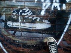 Chucks for the win @community54 #streetart #toronto