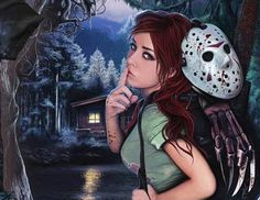 Welcome to Crystal Lake. Horror Show, Horror Movies, Stitch Tattoo, Sleepaway Camp, Horror Artwork, Classic Monsters, Dark Fantasy Art, Gothic Art, Illustration Art