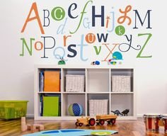 Alphabet fun wall decal for the playroom