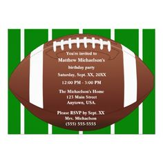 football themed party invitation template free | FREE ...
