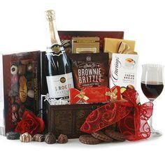 Wine & Truffles - Elegant Wine Gift Basket $109.95