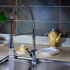 Solid+Brass+Spring+Kitchen+Faucet+with+Color+Changing+LED+Light+–+USD+$+129.99