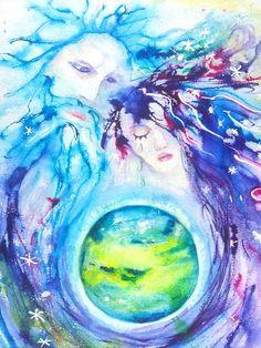 God, Goddess, Earth Ripple Effect by Carlin Blahnik