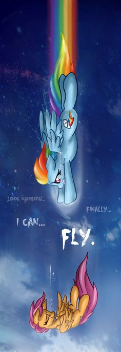Look... Finally I can FLY... by ~RainbowSpine on deviantART