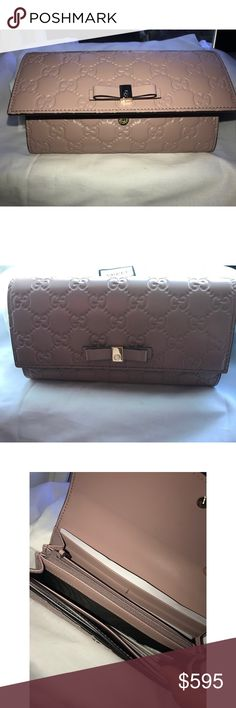 New Gucci Guccisima bow continental wallet Brand new & authentic comes with dust bag and all the papers inside Gucci Bags Wallets