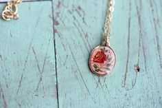 Rose Oval Necklace