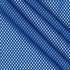 Telio Mod Stretch Mesh Royal Blue from @fabricdotcom  This mesh knit fabric features lofty fibers, open holes, and mechanical four way stretch- about 15%. It is perfect for creating mesh tops, tanks, activewear jerseys, laundry bags and more.