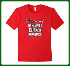 Mens I'M HAVING A COFFEE EMERGENCY! FUNNY CAFFEINE ADDICT T-SHIRT 2XL Red - Food and drink shirts (*Amazon Partner-Link)