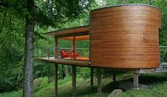 tree house by Roderick James Architects #treehouse #wood